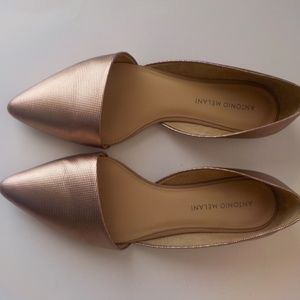 Antonio Melani 7.5M Flats Cooper Pink Leather